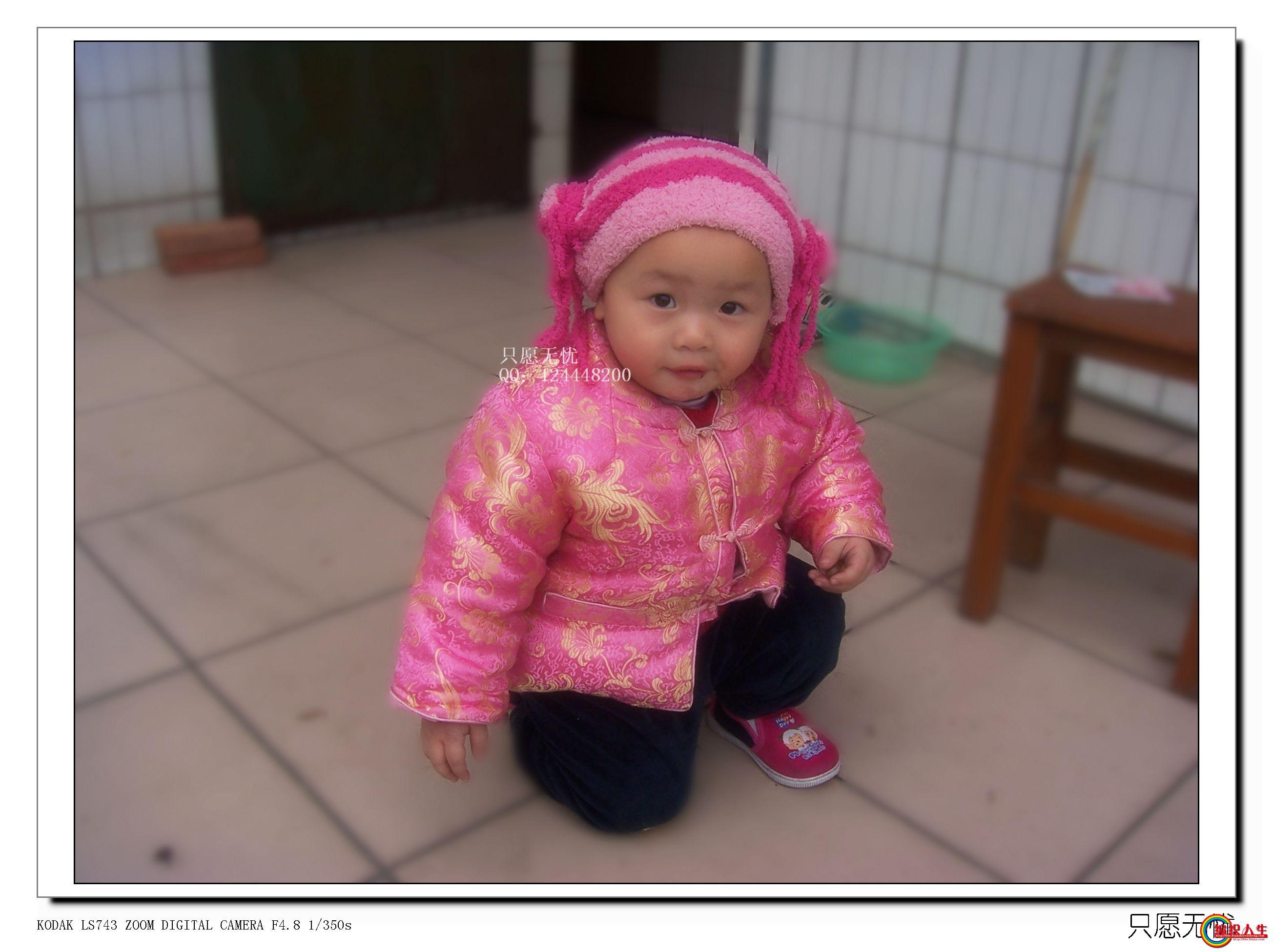 蒙古民族feel的粉色保暖宝宝帽子