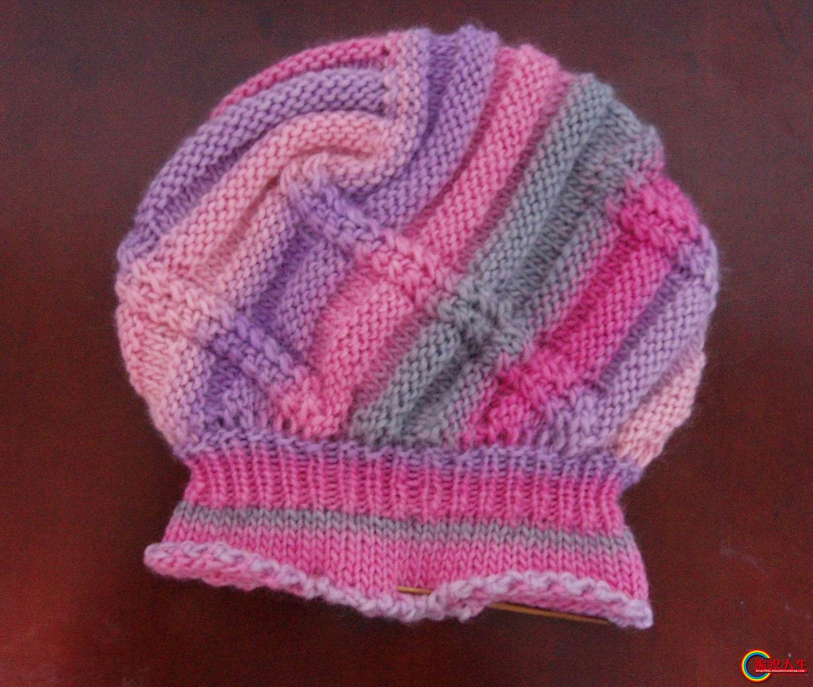 编织人生怎样织帽子_段染线织的帽子大家看看_编织人生论坛