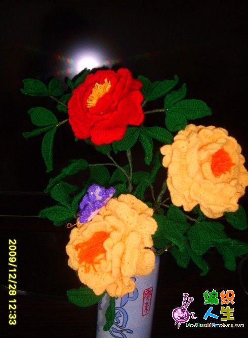 钩针编织牡丹花包包_编织乐论坛钩织立体花-钩针编织花样立体花|钩针编织立体花朵 ...