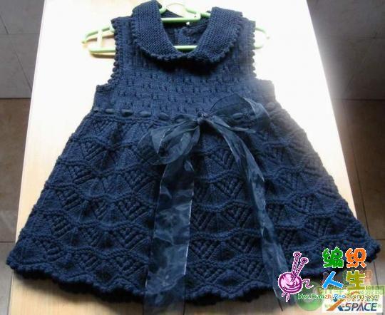 寻找漂亮的儿童毛衣裙花样