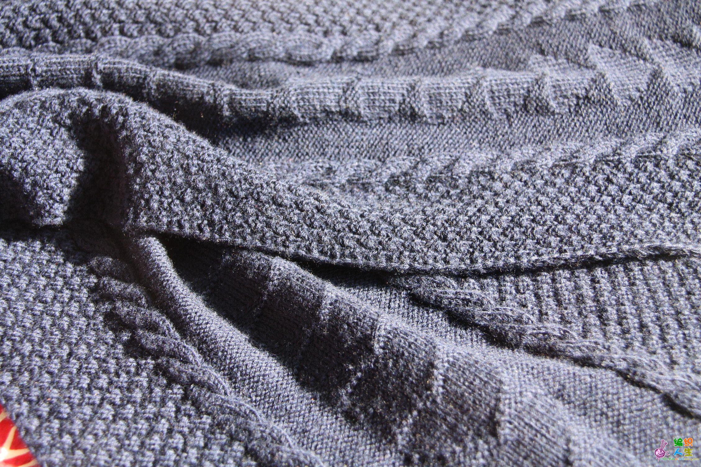 原创心形图案的男式围巾(图解及针数,织法说明已增加图片