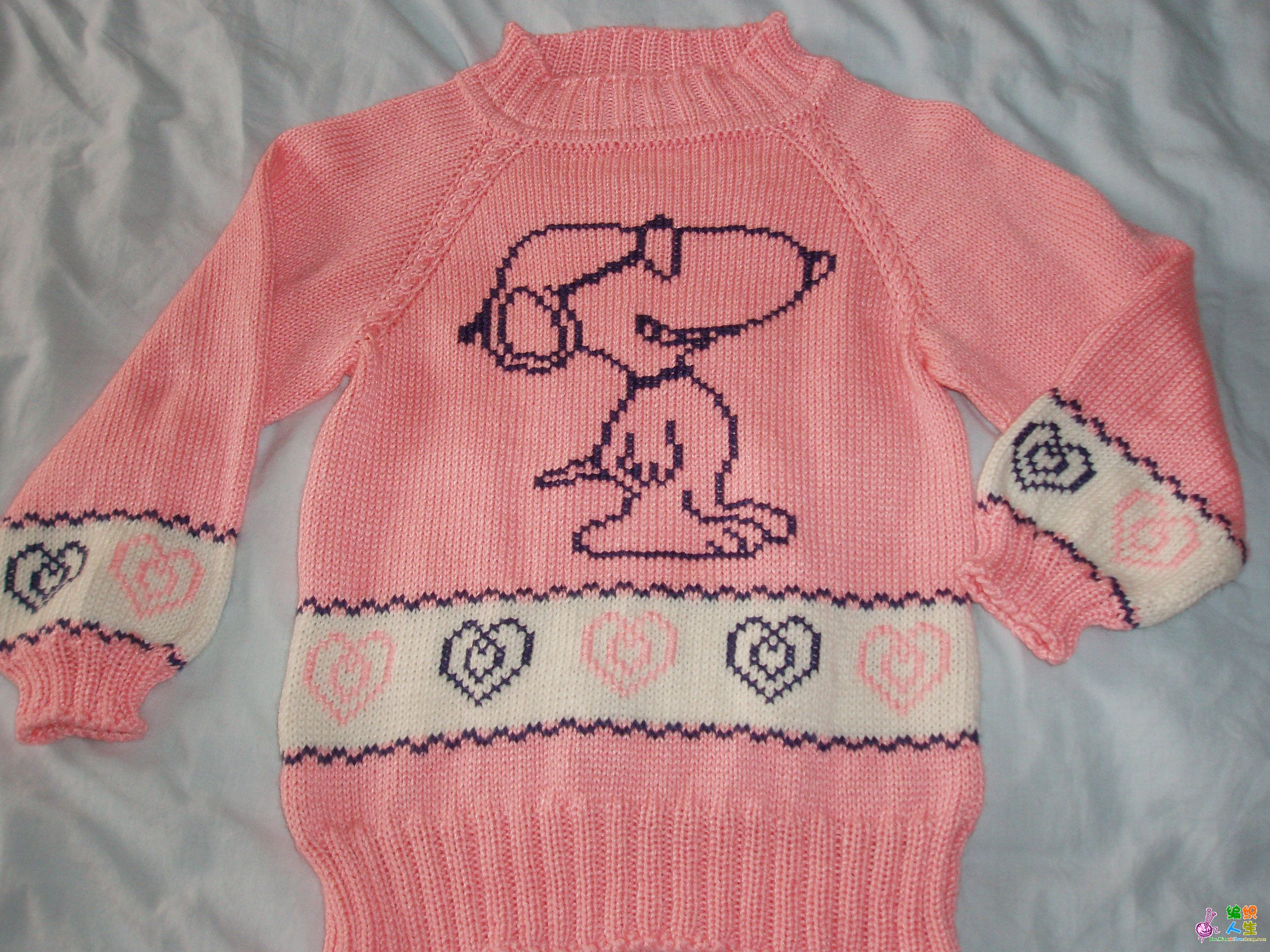 儿童毛衣—史努比图案