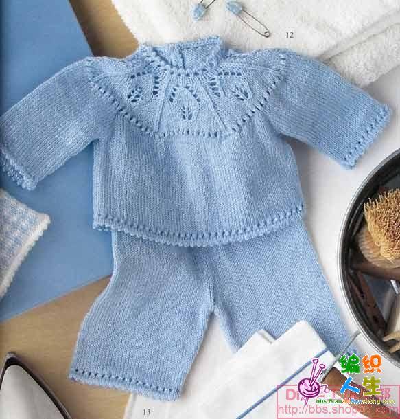漂亮的宝宝毛衣 求图解和织法