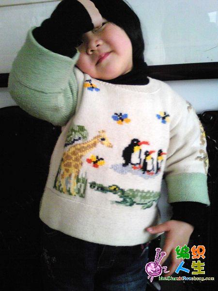 儿童毛衣平针上针织法花朵图案大全