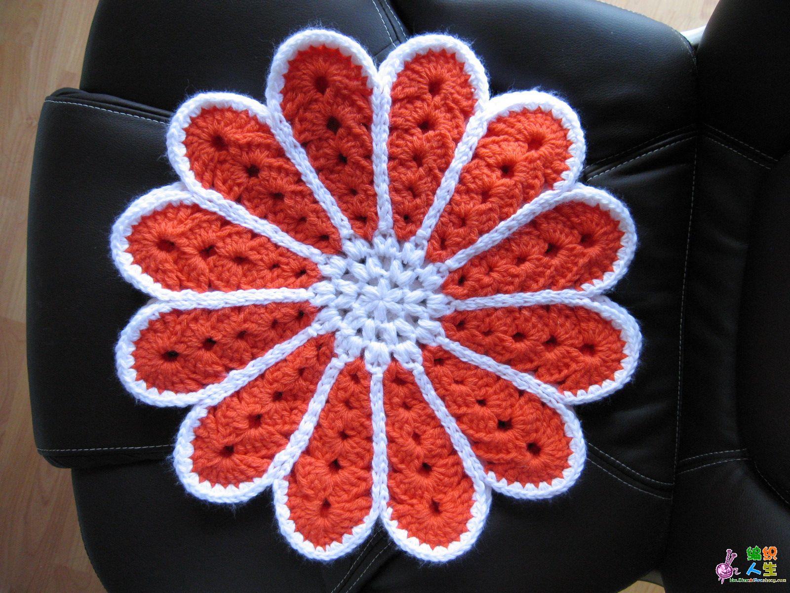 毛线钩坐垫图案_方形坐垫的钩法图解内容|方形坐垫的钩法图解版面设计