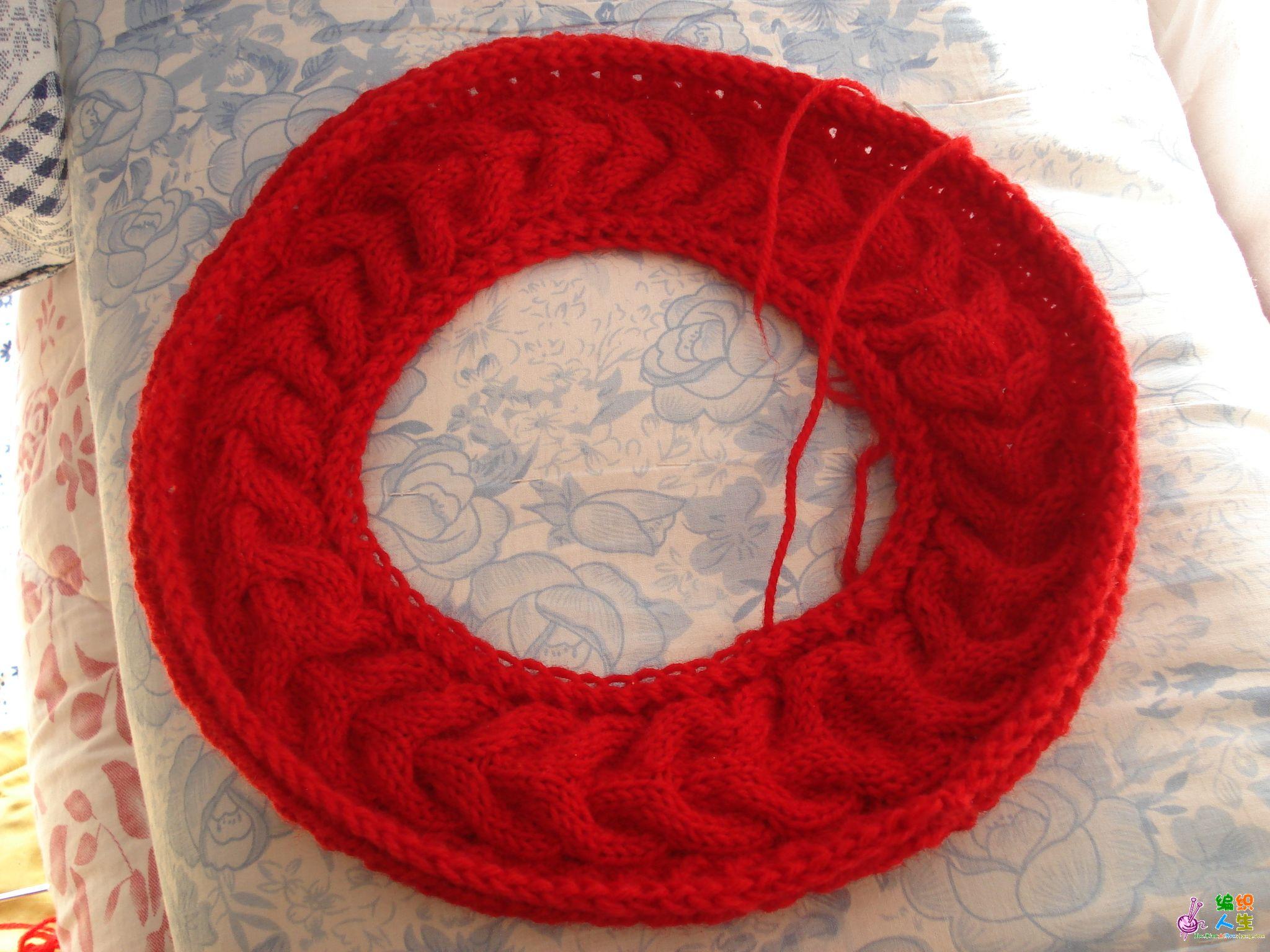 儿童围巾的织法图解