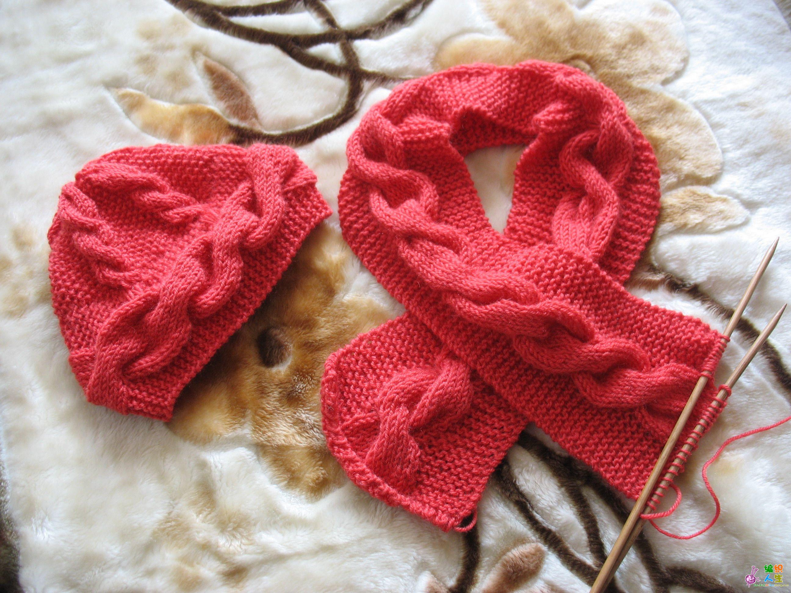 喜庆的红帽子红围巾