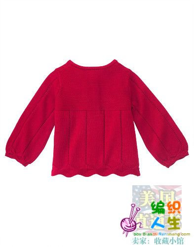 简单优雅的小女孩毛衣,可以仿_编织人生论坛