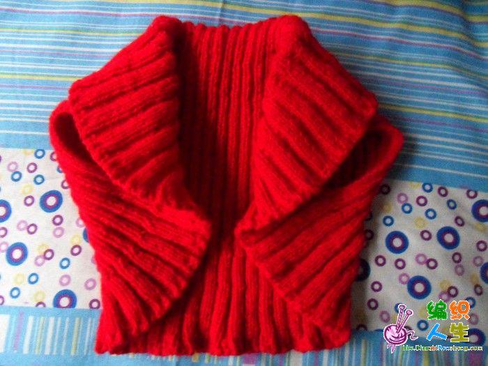无针编织围巾步骤图