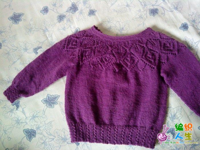 儿童服饰编织交流 69 儿童毛衣(棒针) 69 一件漂亮的从上往下织的