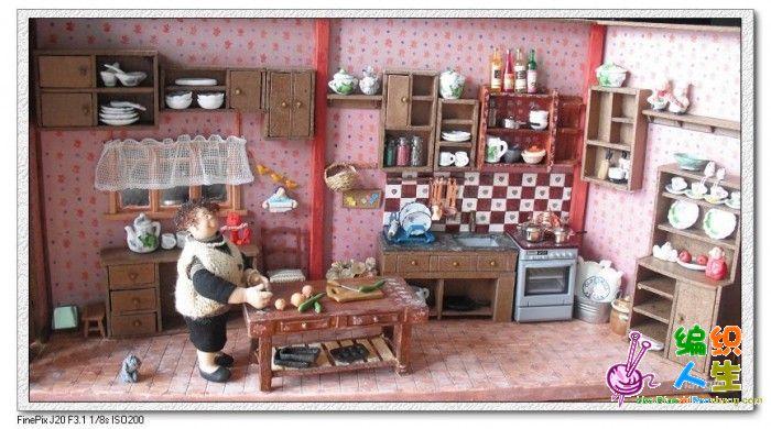 手工微缩景观之江婆婆厨房
