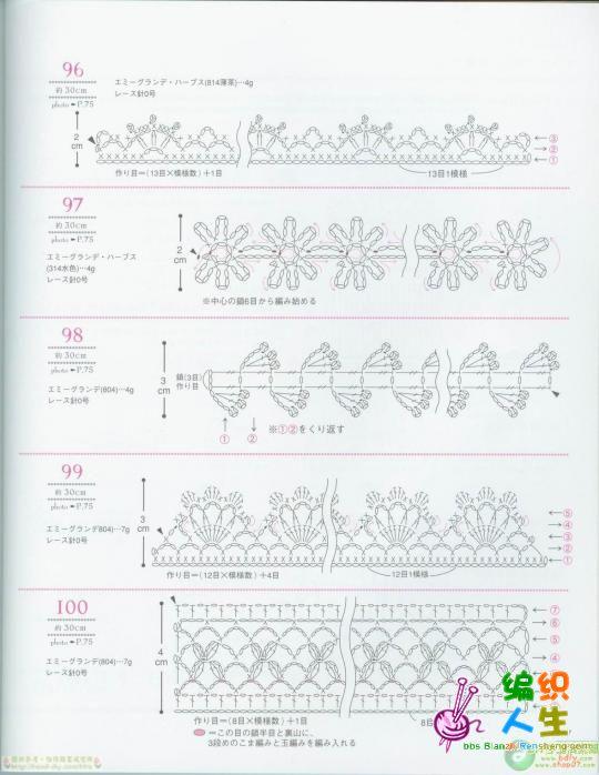 如何diy钩针花边方法图解手工编织披肩图解法一起试一试图案比较