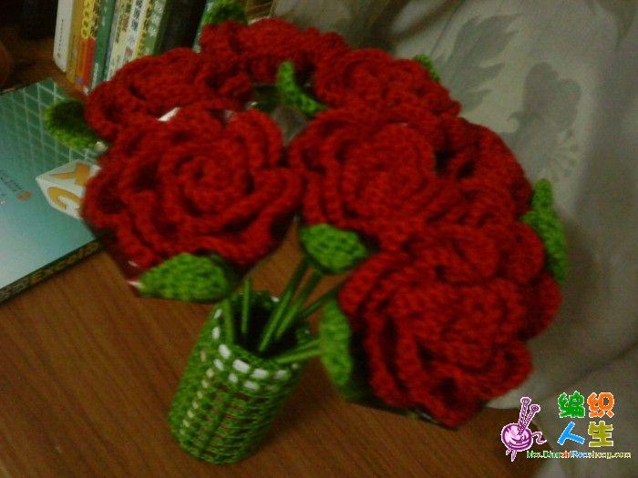 id=73198毛线编织玫瑰花的叶子求毛线勾花的叶子的钩法怎么用毛线织出