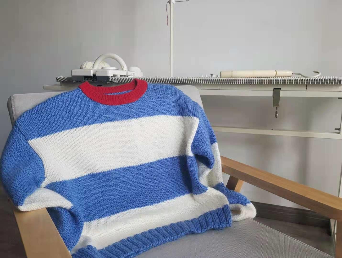 LK150机织条纹毛衣