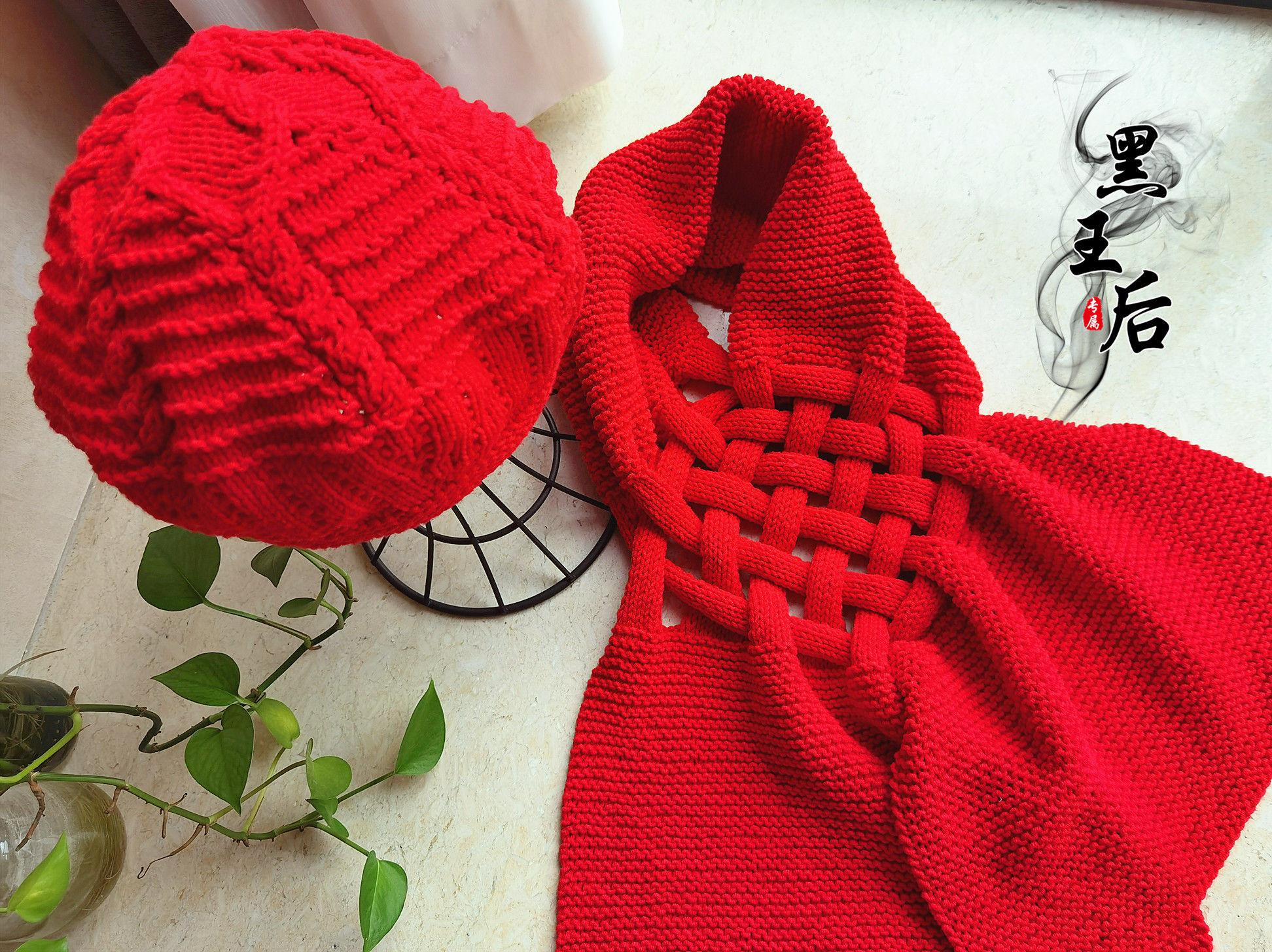 棒针中国结围巾