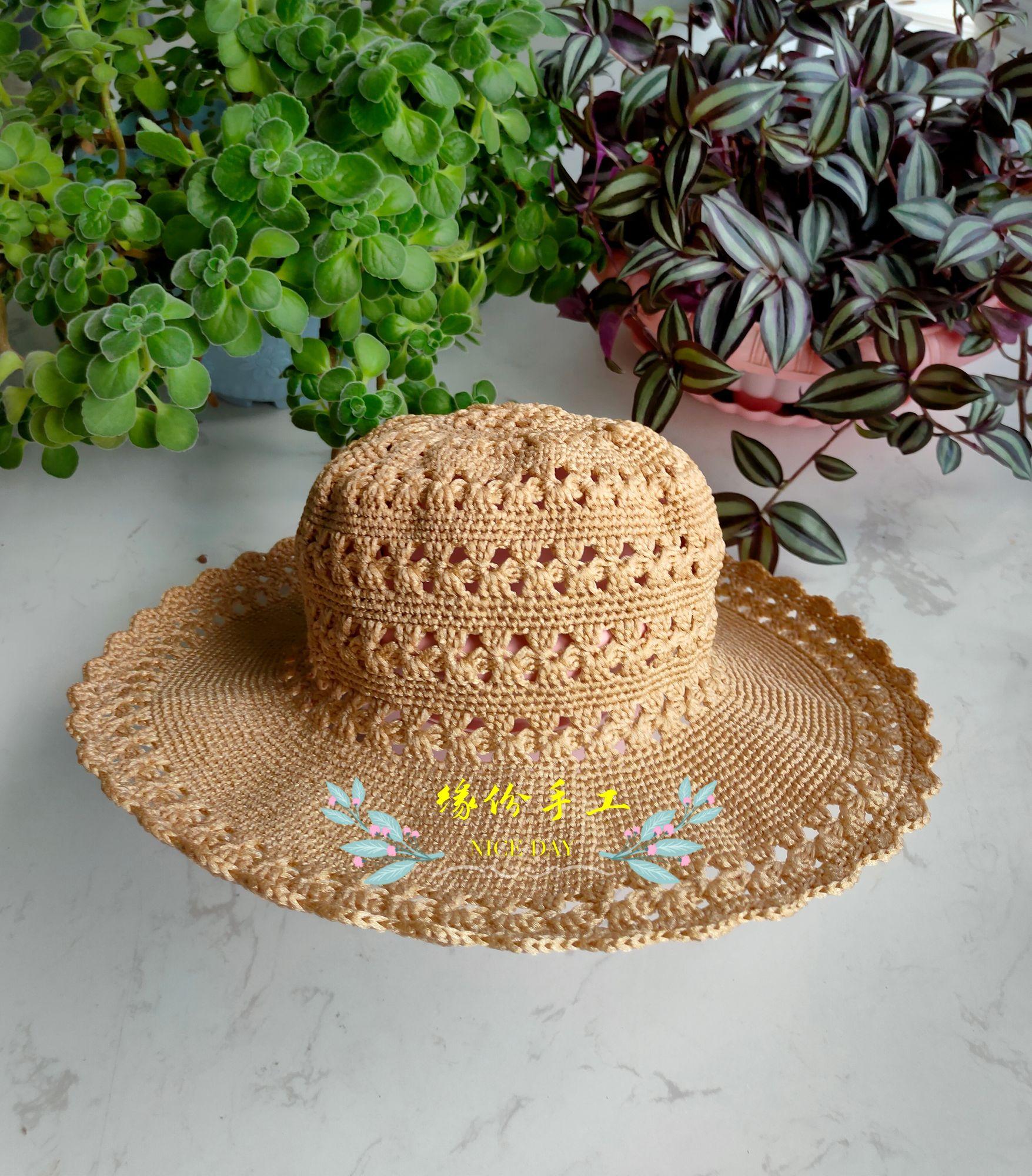 钩针丝带帽