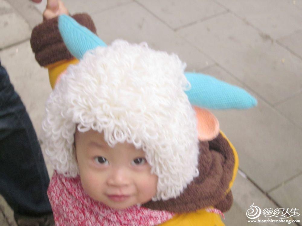 宝宝护耳帽子的钩法_仿qiushui7293的喜洋洋帽子,我家小宝贝回头率100%,人群中的焦点 ...