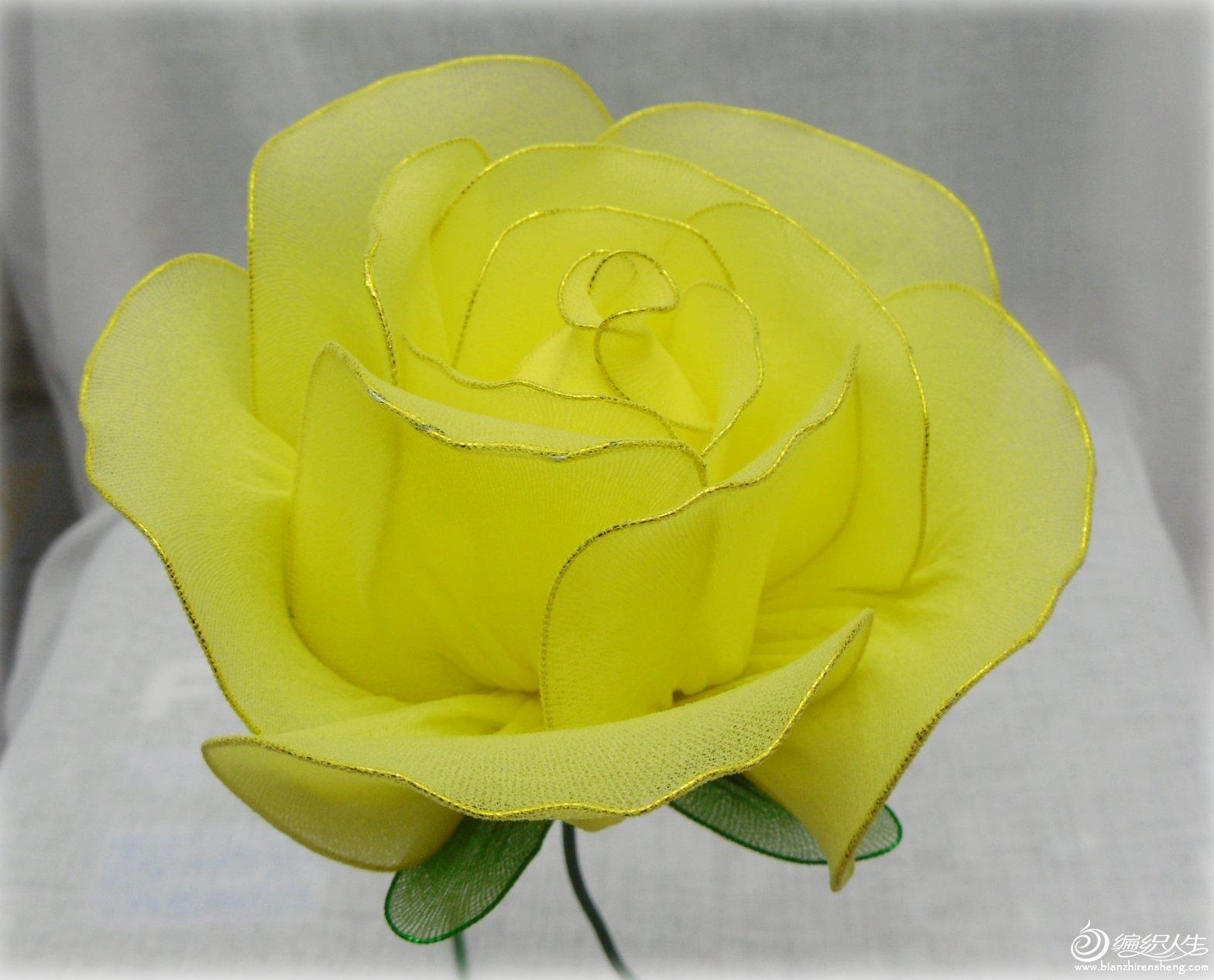 丝网花玫瑰花的制作_丝网玫瑰花造型方法_其它手工作品及教程_编织人生论坛