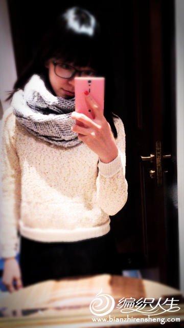 自己织的毛衣和围巾
