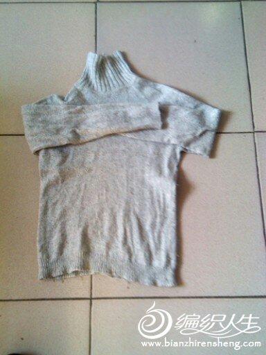 这是前几年给儿子织的这件是灰色的平针,插件