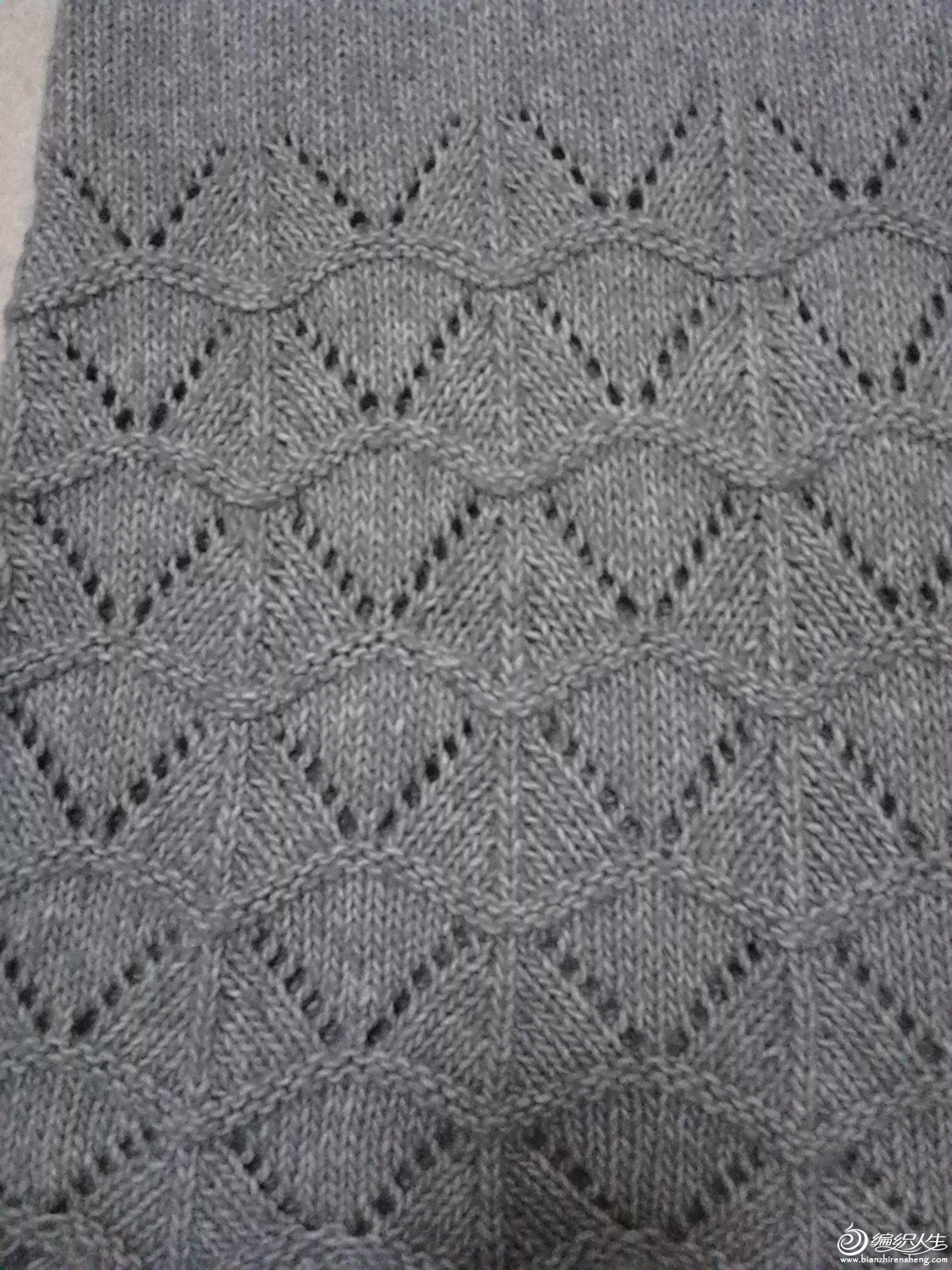 灰色长款毛衣
