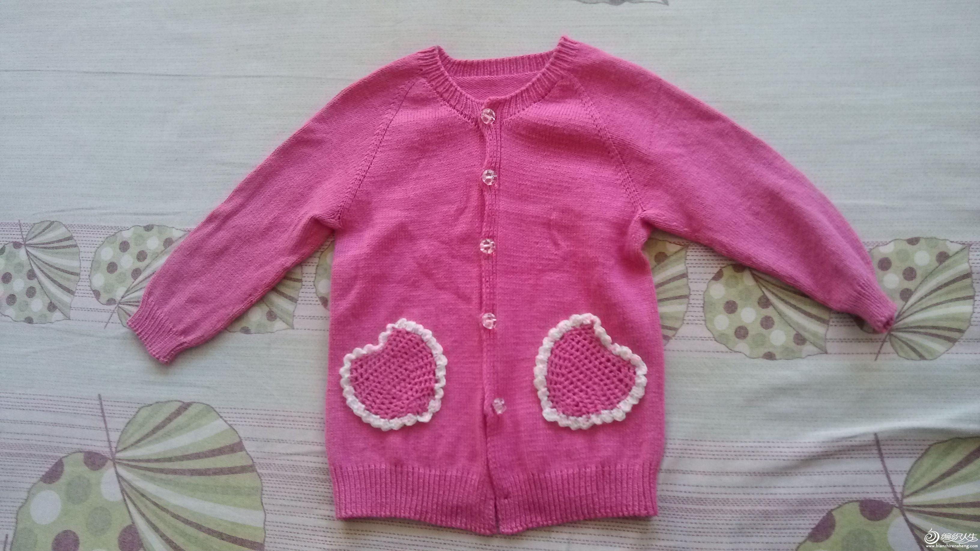 原创檫肩袖宝宝毛衣