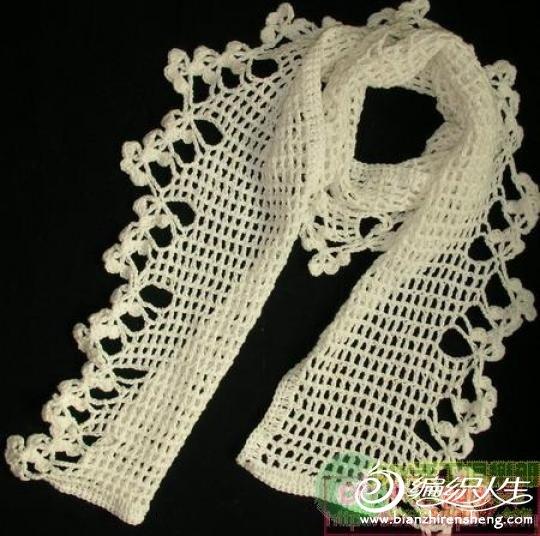床的花边就是论坛这款围巾样品钩的