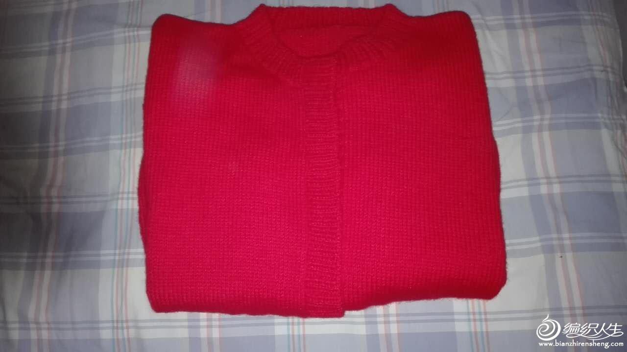 大红色女士开衫