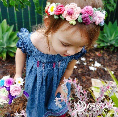 儿童钩针发带