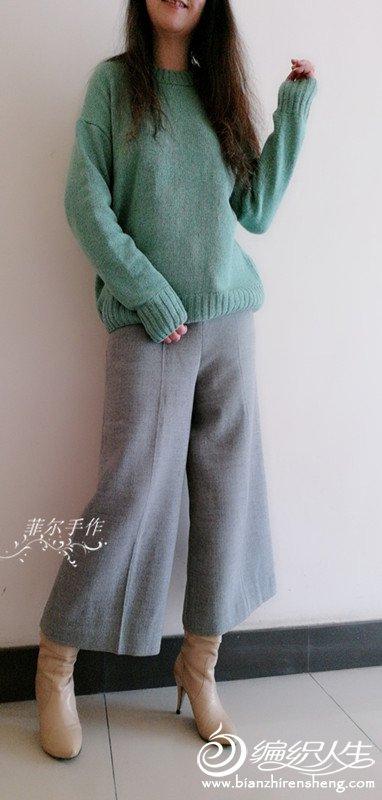 女士棒针休闲毛衣