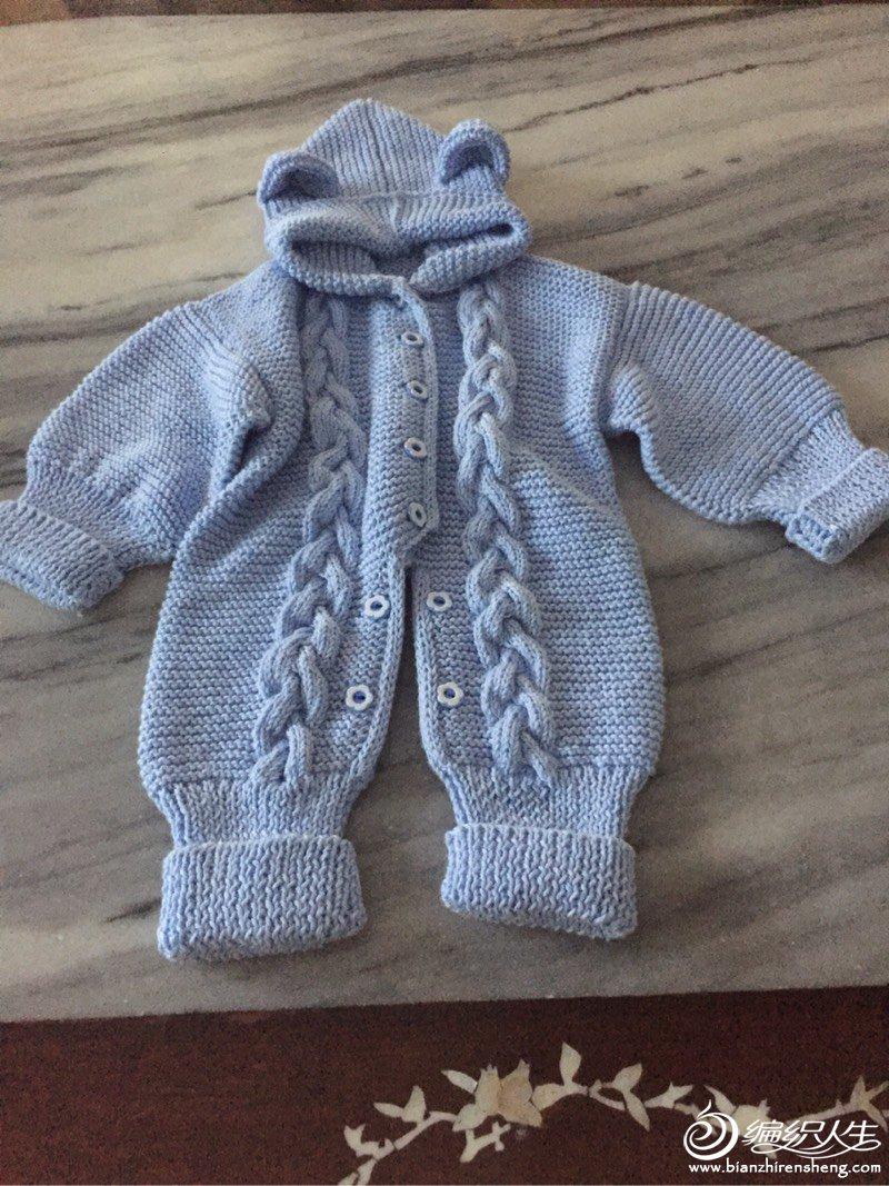 手工编织宝宝爬服