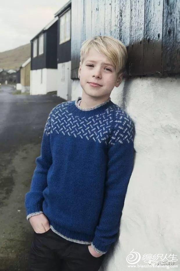 男童棒针羊毛衫