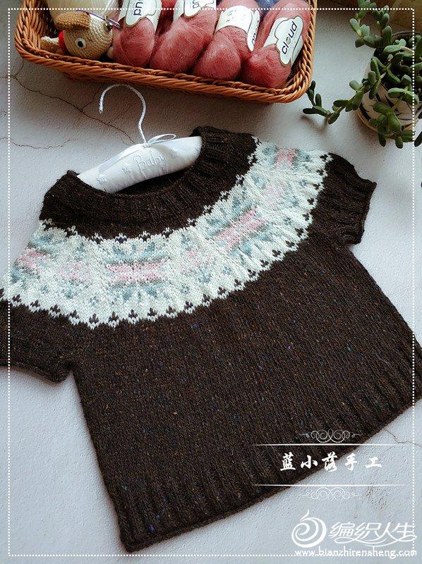 从上往下织宝宝毛衣