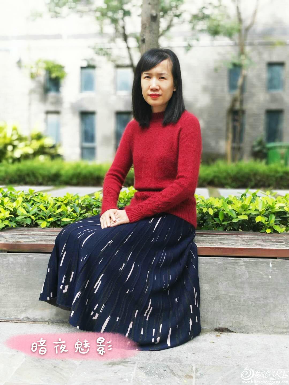 手工编织红毛衣