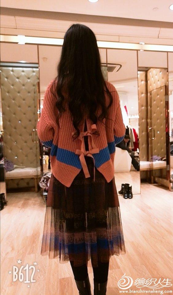 蝴蝶结女士棒针毛衣
