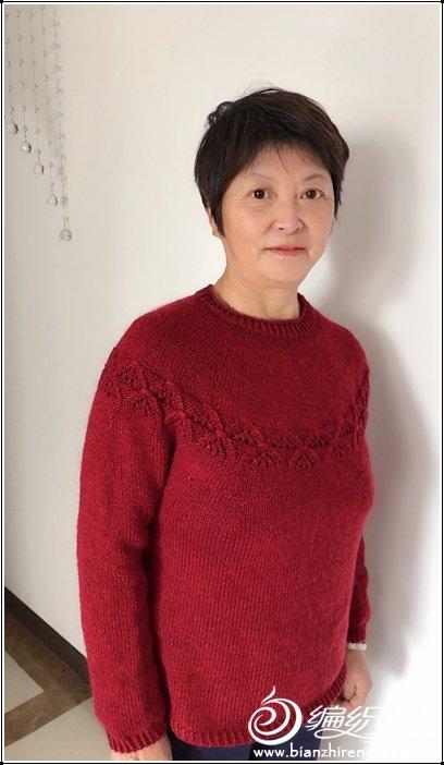 中老年棒针羊毛衫