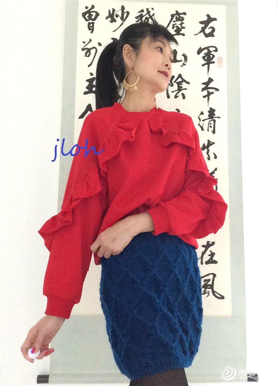 手工编织新年裙