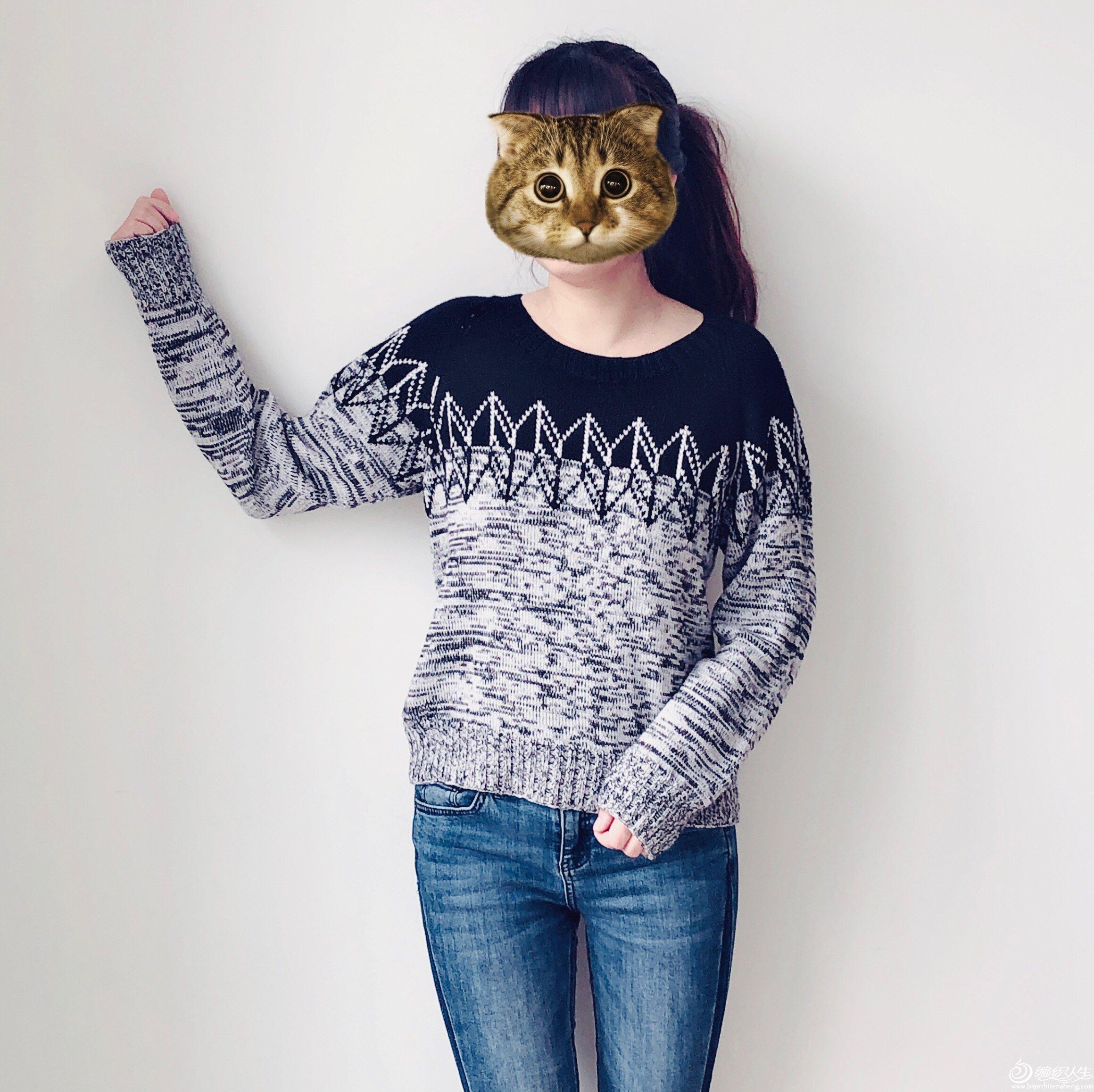机织女士棒针提花毛衣