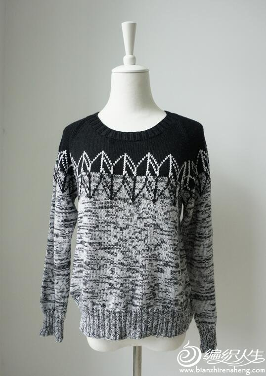 机织女士提花毛衣