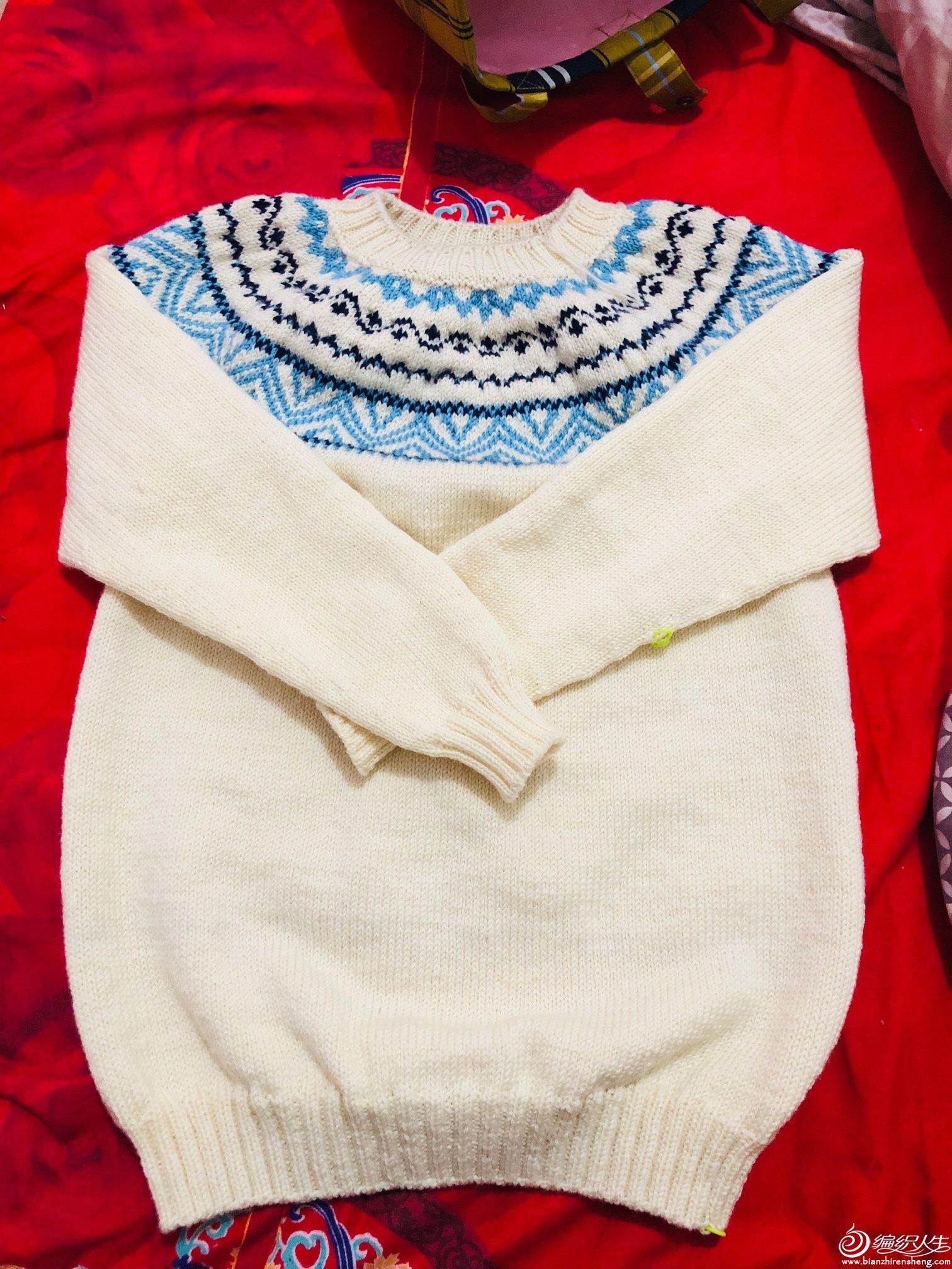 女士棒針提花毛衣