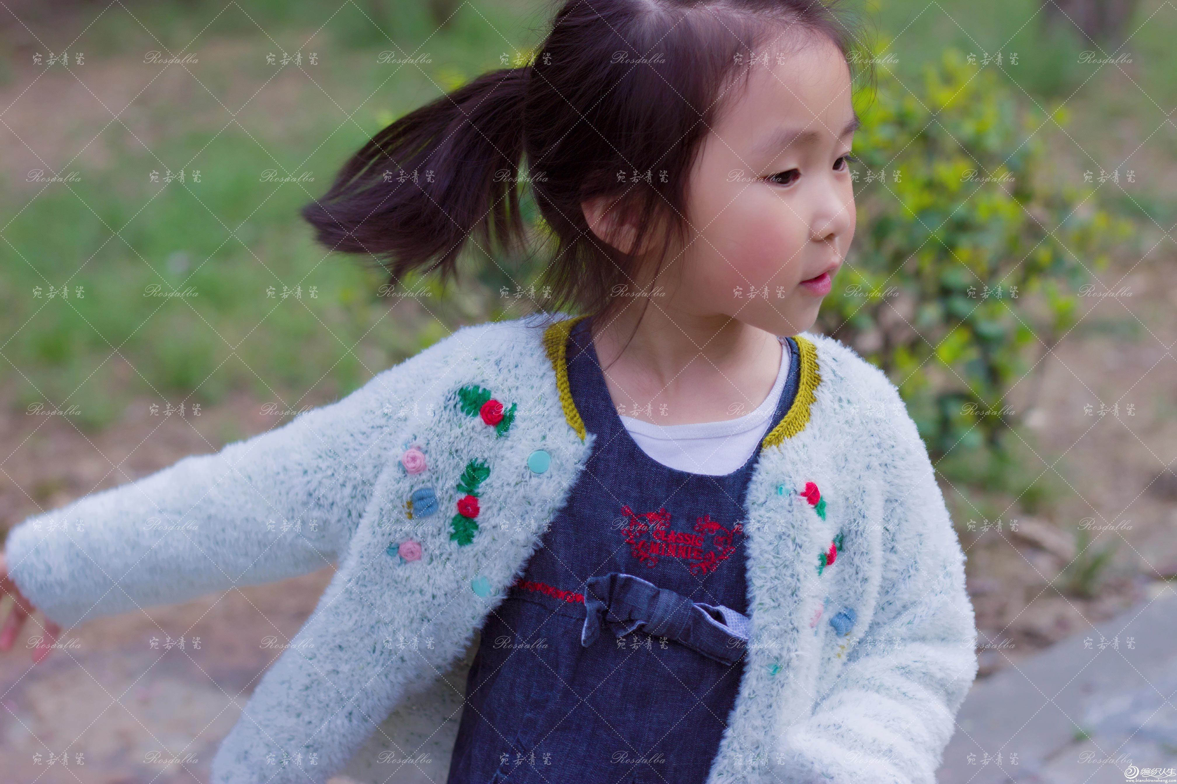 儿童棒针圆肩开衫