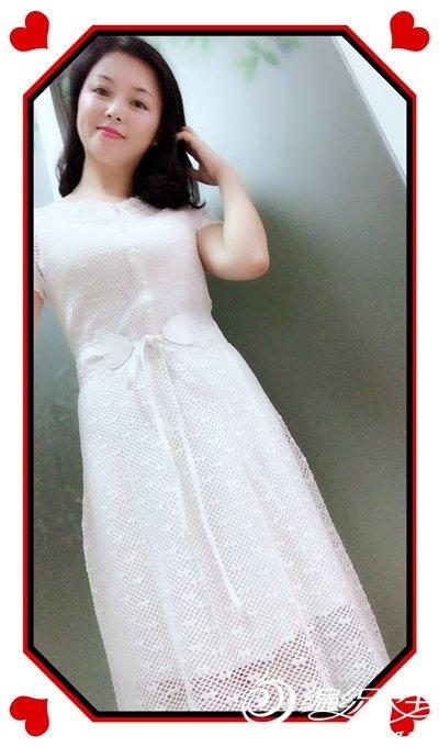 女士钩针蕾丝短袖裙装