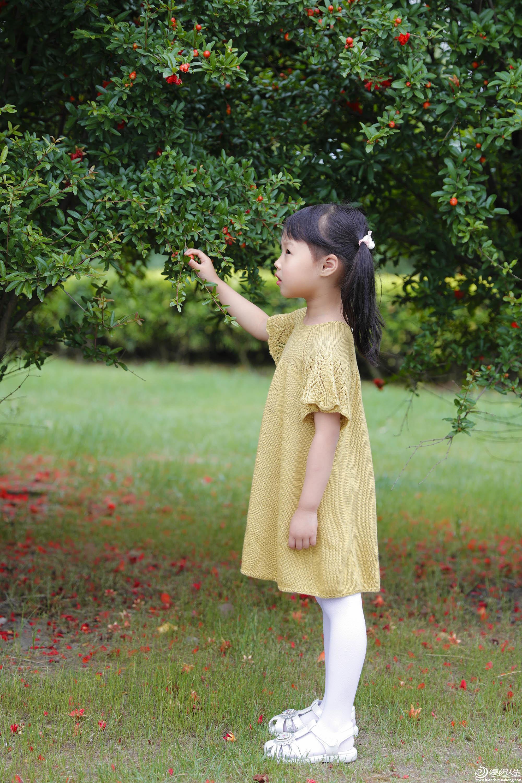 儿童棒针公主裙