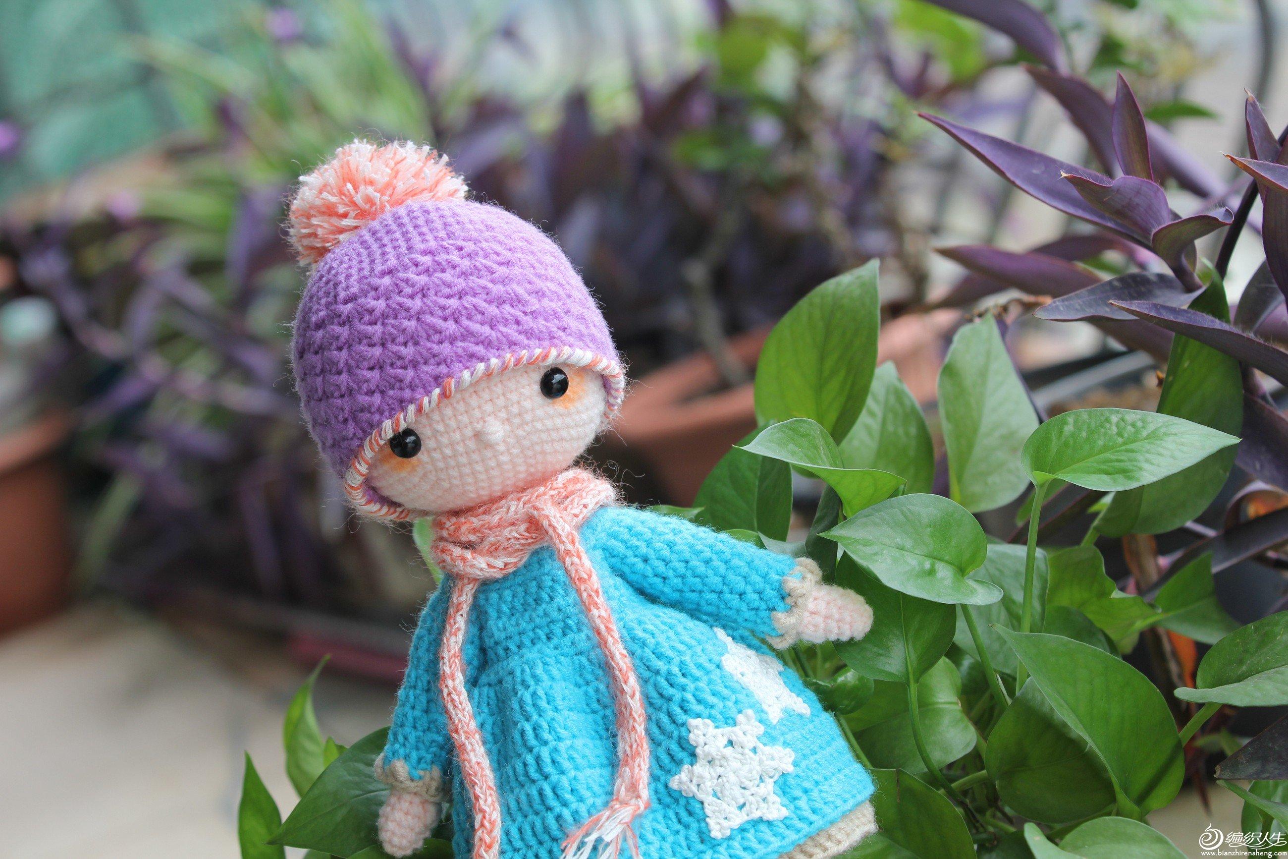 毛線編織玩偶鉤針女孩