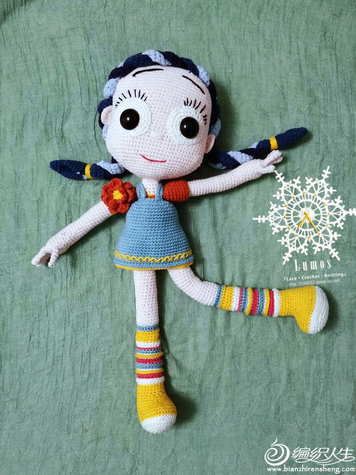 毛线钩针巨型娃娃