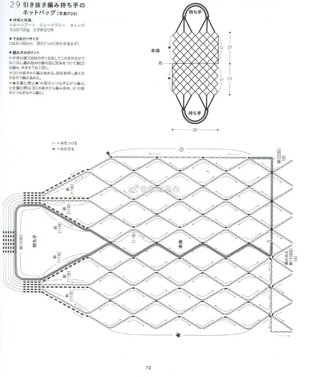毛线网包图解