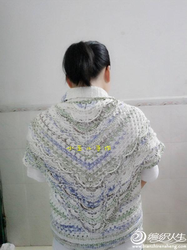 鉤針貴婦人披肩改版開衫毛衣