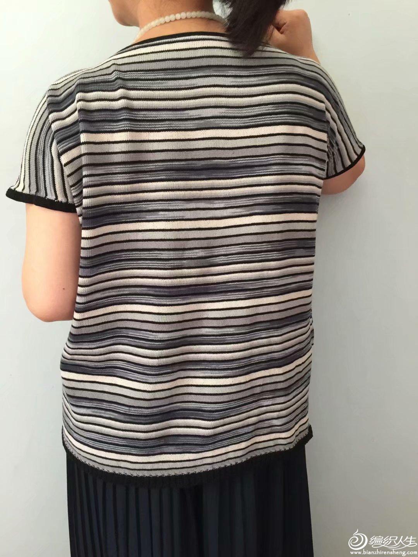 细针织条纹衫