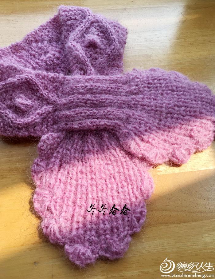 女士棒针领结式围巾