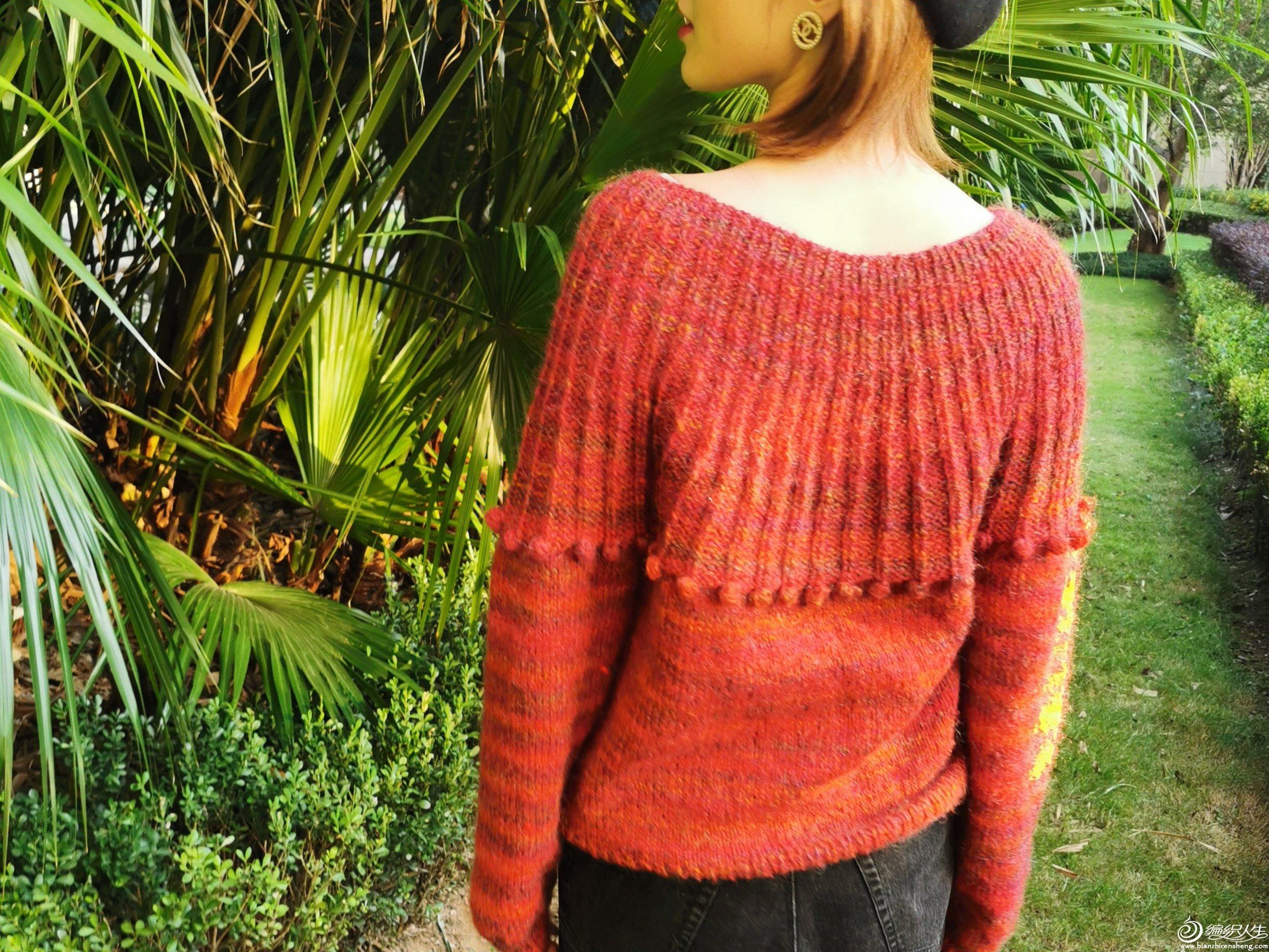 从上往下织女士毛衣